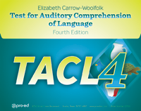 Image TACL-4 Test for Audiotry Comprehension of Language Fourth Edition