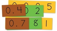 Image Place Value Decimal Strips Student Size Class Set