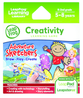 Image LeapFrog LeapPad Leapster Game: Adventure Sketchers! Draw Play Create