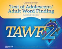 Image TAWF-2 Test of Adolescent Adult Word Find Second Ed