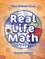 Image Real Life Math Living on a Paycheck Second Edition