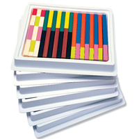 Image Cuisenaire Rods Multi-Pack: Plastic Rods