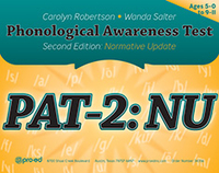 Image PAT-2 NU Phonological Awareness Test-2 Normative Update
