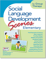 Image Social Language Development Scenes Elementary for Group Therapy