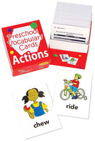Image Preschool Vocabulary Cards Actions