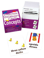 Image Preschool Vocabulary Cards Concepts