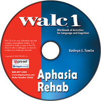 Image WALC 1 Aphasia Rehab on CD