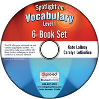 Image Spotlight on Vocabulary Level 1: 6-Book Set on CD
