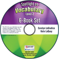 Image Spotlight on Vocabulary Level 2: 6-Book Set on CD