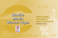 Image Basic Math Warm-Ups: Fractions Decimals and Percents