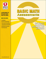 Image Basic Math Assessments:  Fractions Decimals and Percents