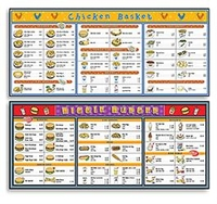 Image Fast Food Basic Menu Math - Set of 6 Extra Menu Boards