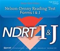 Image Nelson Denny Reading Test Form I & J NDRT Complete Kit