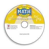Image Basic Math Practice: Fractions, Decimals, and Percents - Digital Version