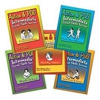 Image Autism & PDD Intermediate Social Skills Lessons: 5-Book Set