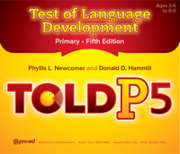 Image TOLD-P:5: Test of Language Development Primary FifthEdition copy