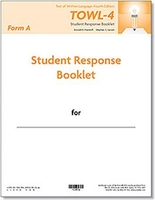 Image TOWL-4 Student Response Booklets, Form A (25)