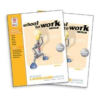 Image School-to-Work Skills: Basic Language Arts Set of 2