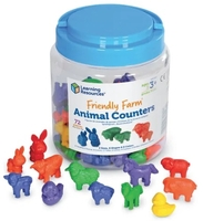 Image Friendly Farm  Animal Counters, Set of 72