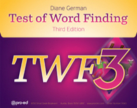 Image Test of Word Finding - Third Edition
